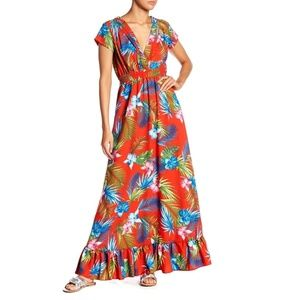 ROMEO JULIET COUTURE OpenBack Maxi Dress Floral
